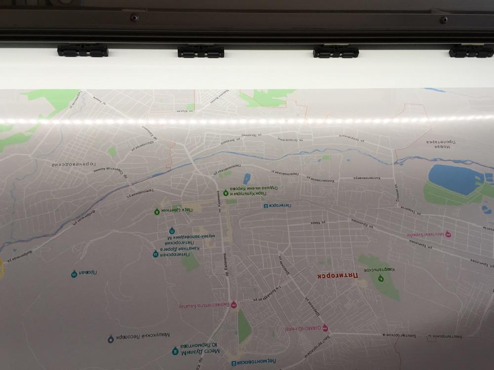 Печать на самоклеющейся пленке карты Пятигорска