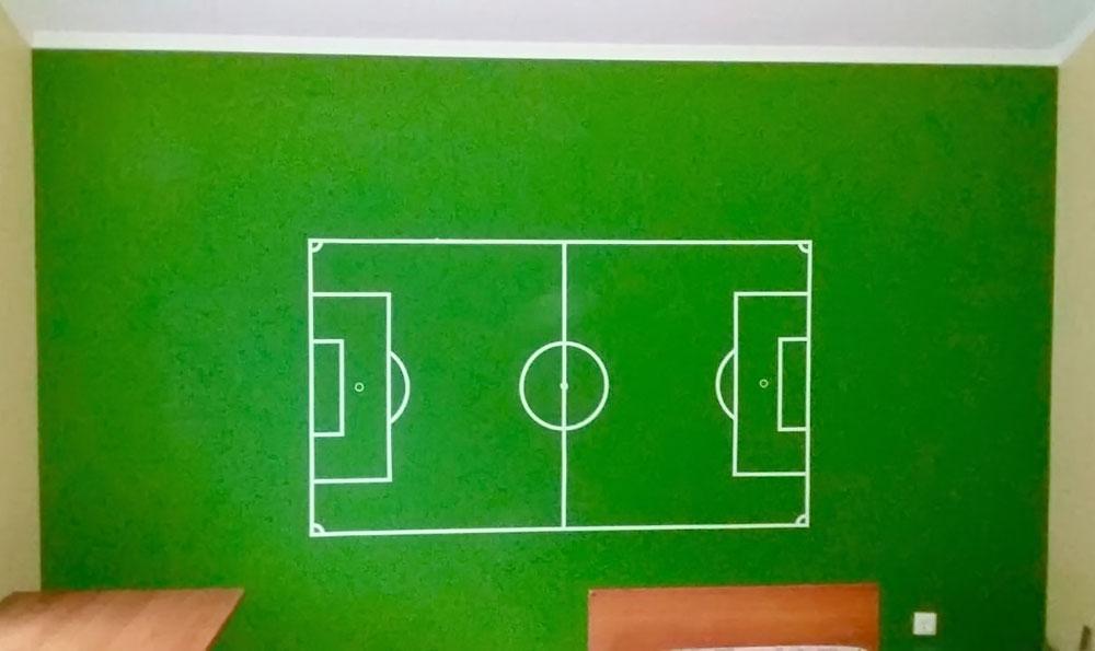 Наклейка в интерьер «Футбольное поле»