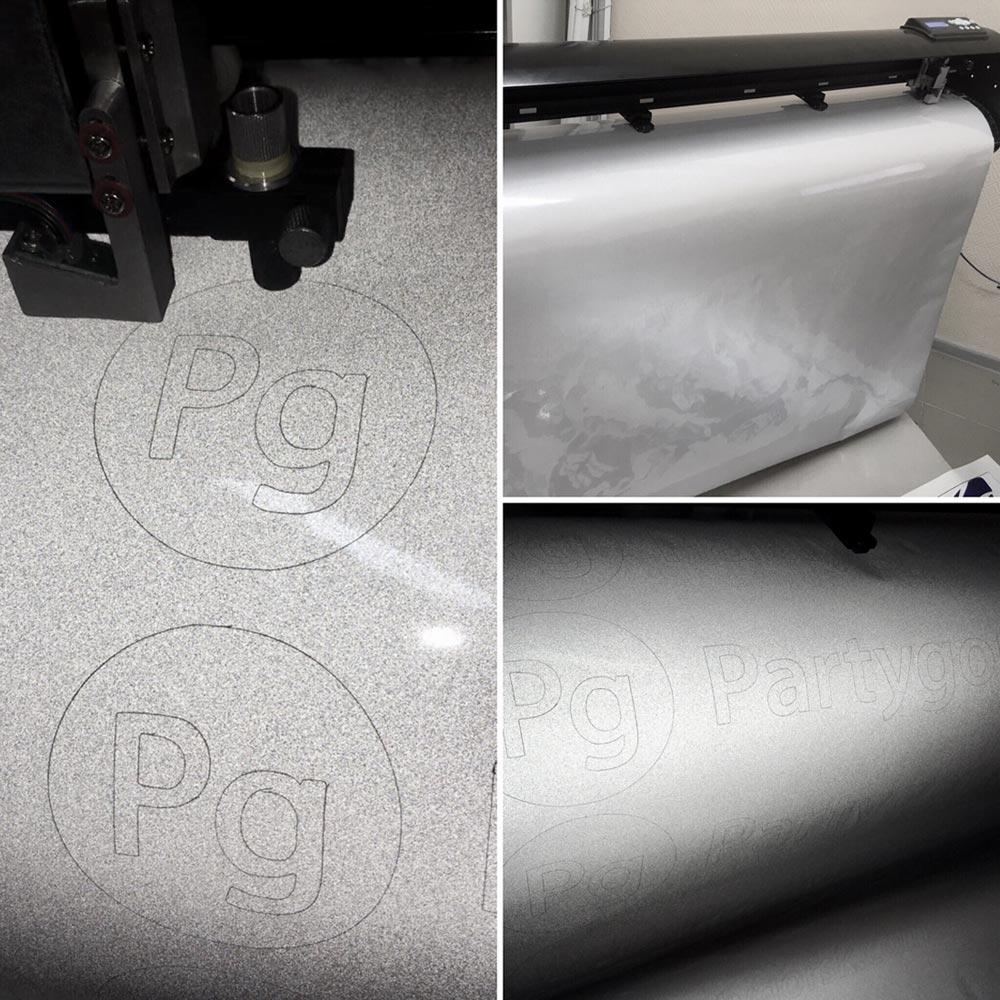 Плоттерная резка светоотражающей пленки для PG
